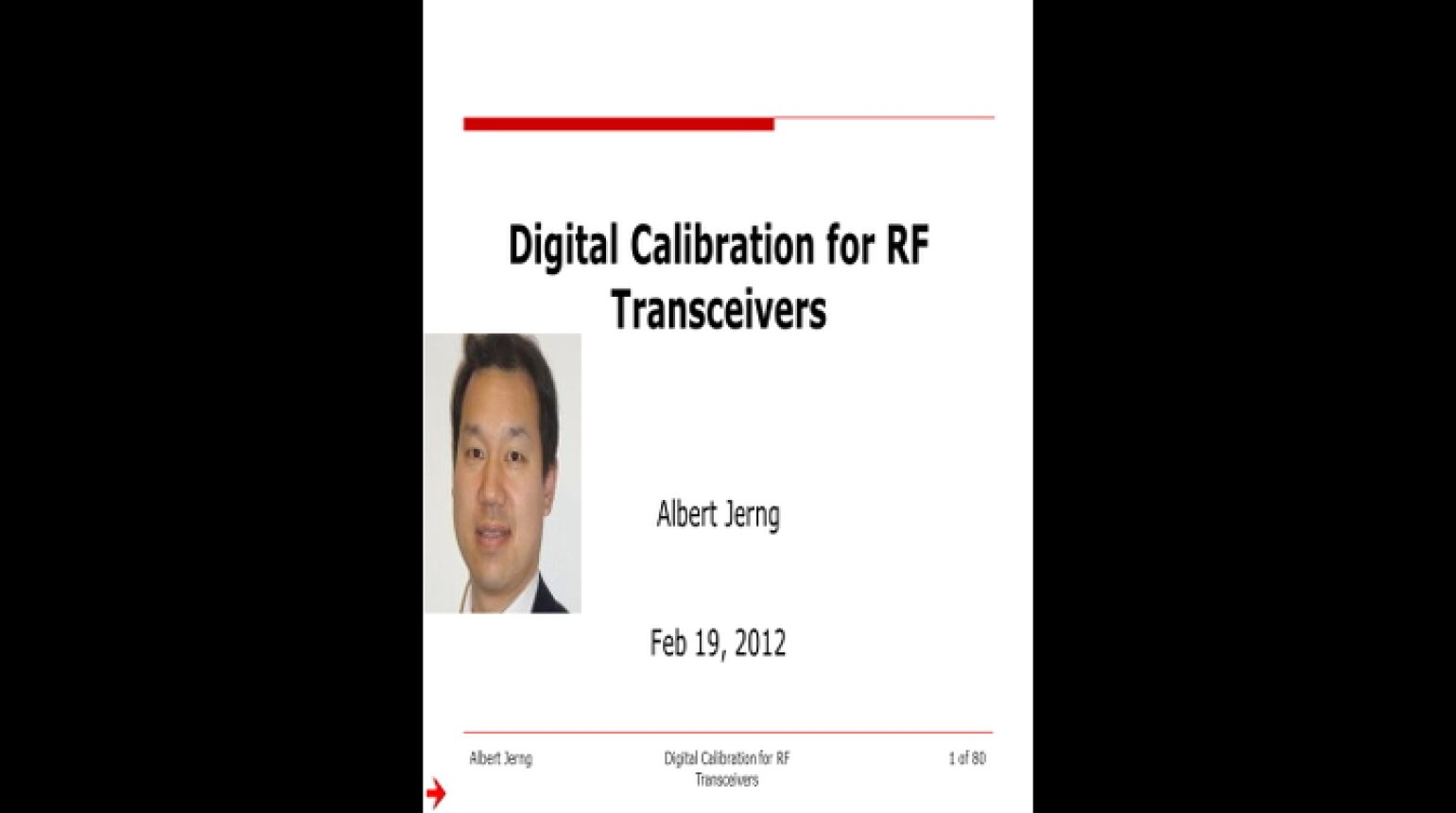 Digital Calibration for RF Transceivers Video