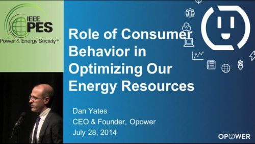 Role of Consumer Behavior in Optimizing Our Energy Resources (Video)