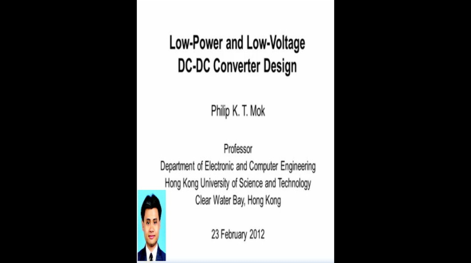 Low Power and Low Voltage DC DC Converter Design Video