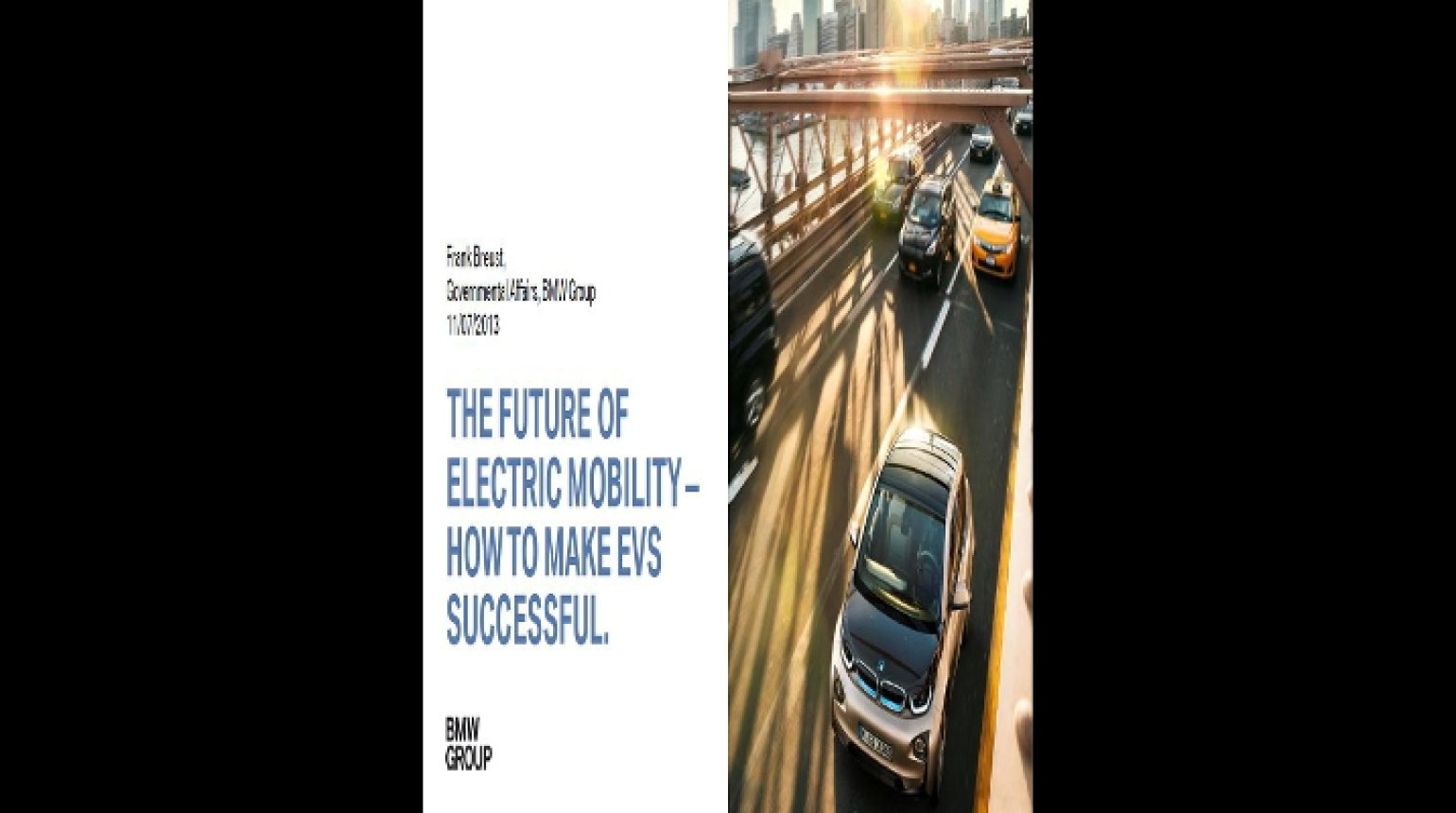 Video - The Future of Electric Mobility - How to Make EVS Successful