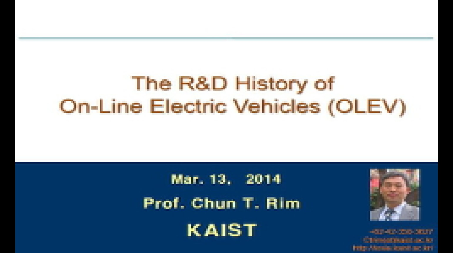 Video - The R&D History of On-Line Electric Vehicles (OLEV)