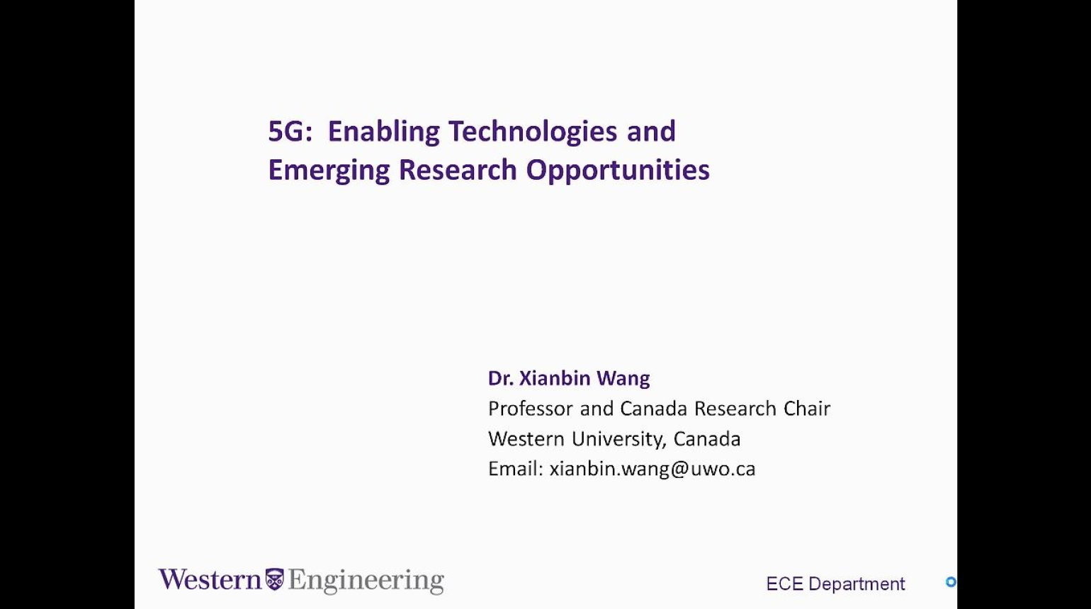 Video - 5G Enabling Technologies and Emerging Research Opportunities