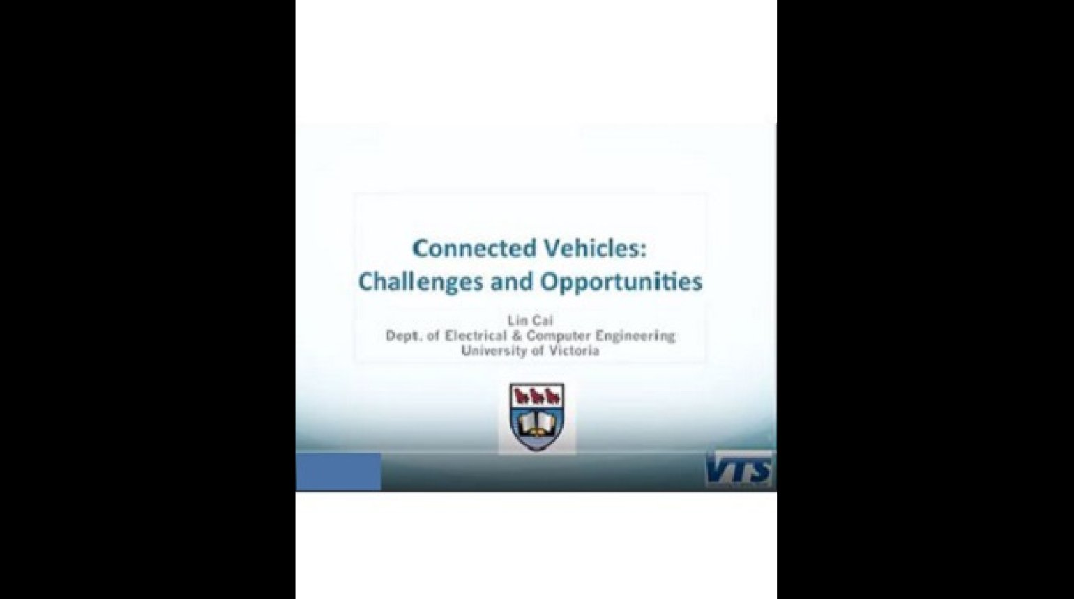 Video - Connected Vehicle: Challenges and Opportunities