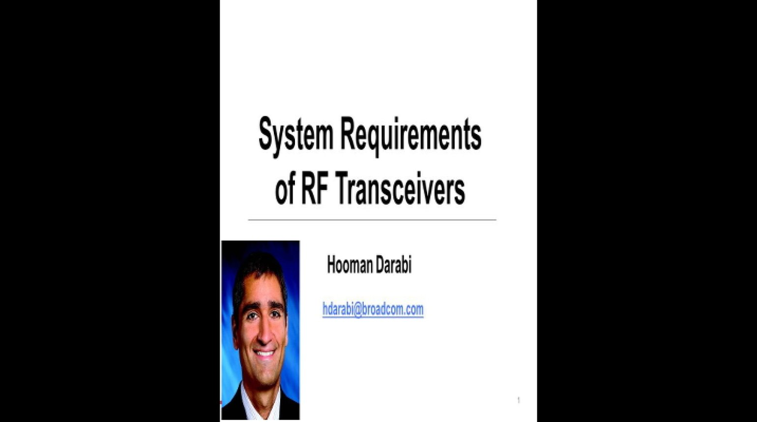 System Requirements of RF Transceivers Video