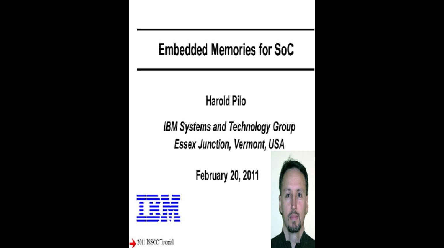 Embedded Memories for SoC Video
