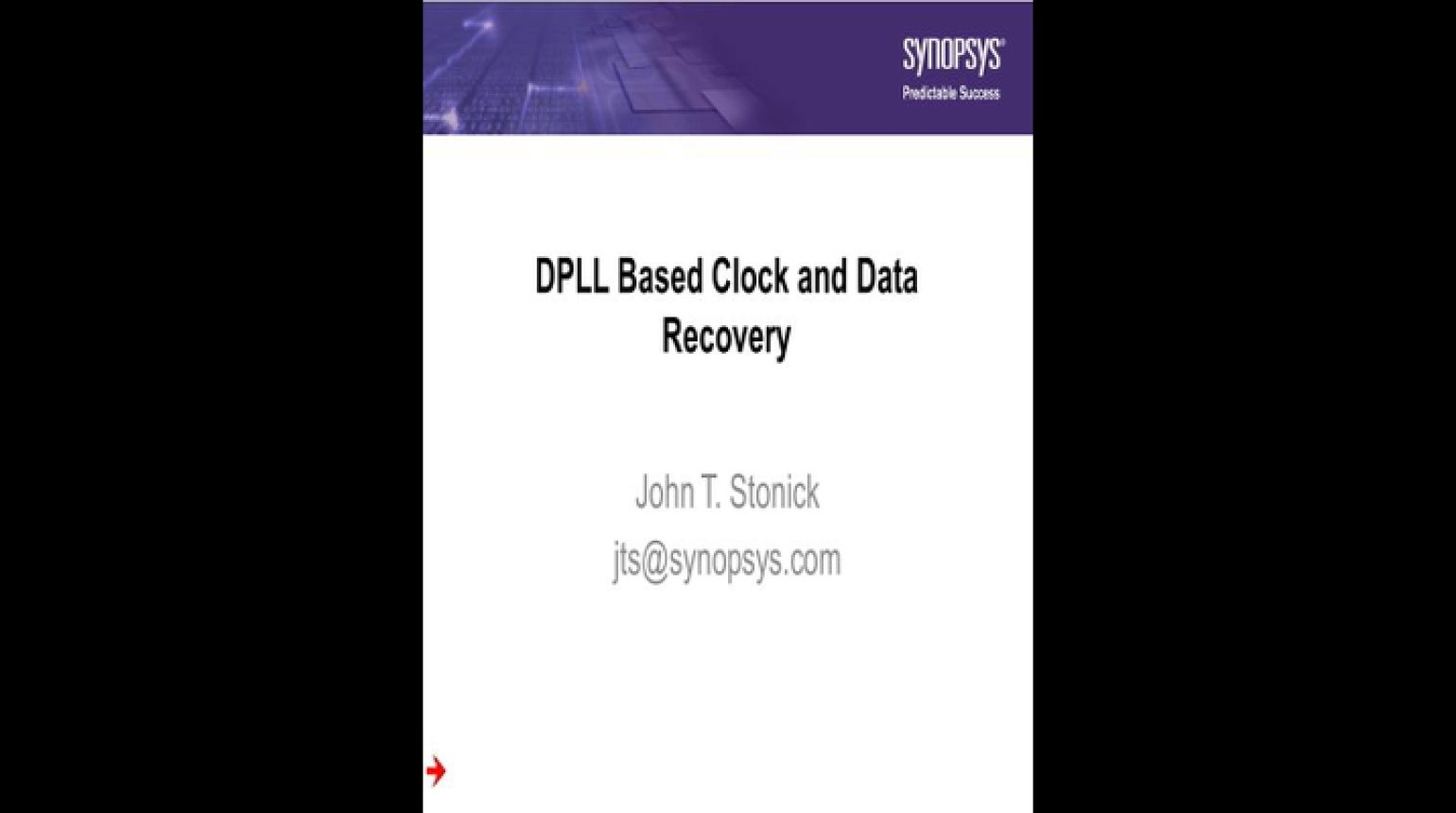 DPLL Based Clock and Data Recovery Video