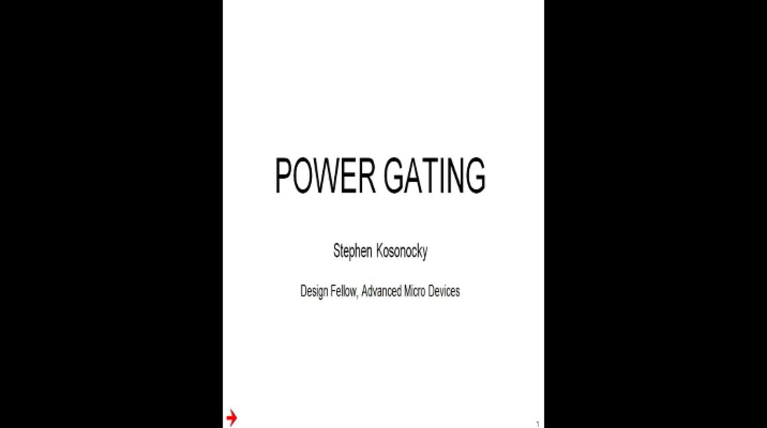 Power Gating Video