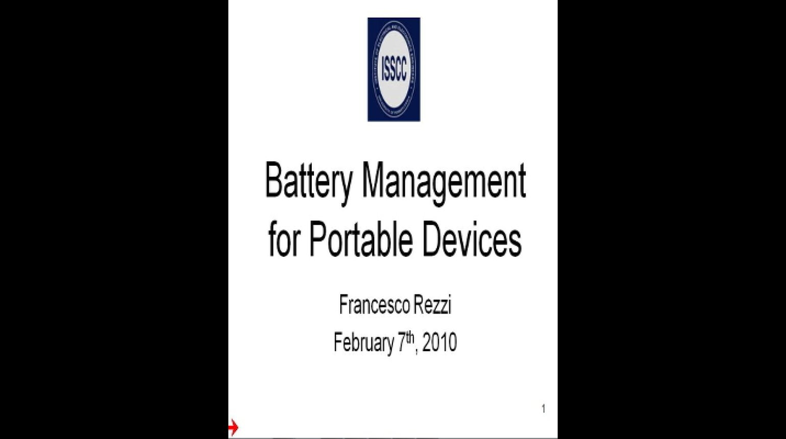 Battery Management for Portable Devices Video