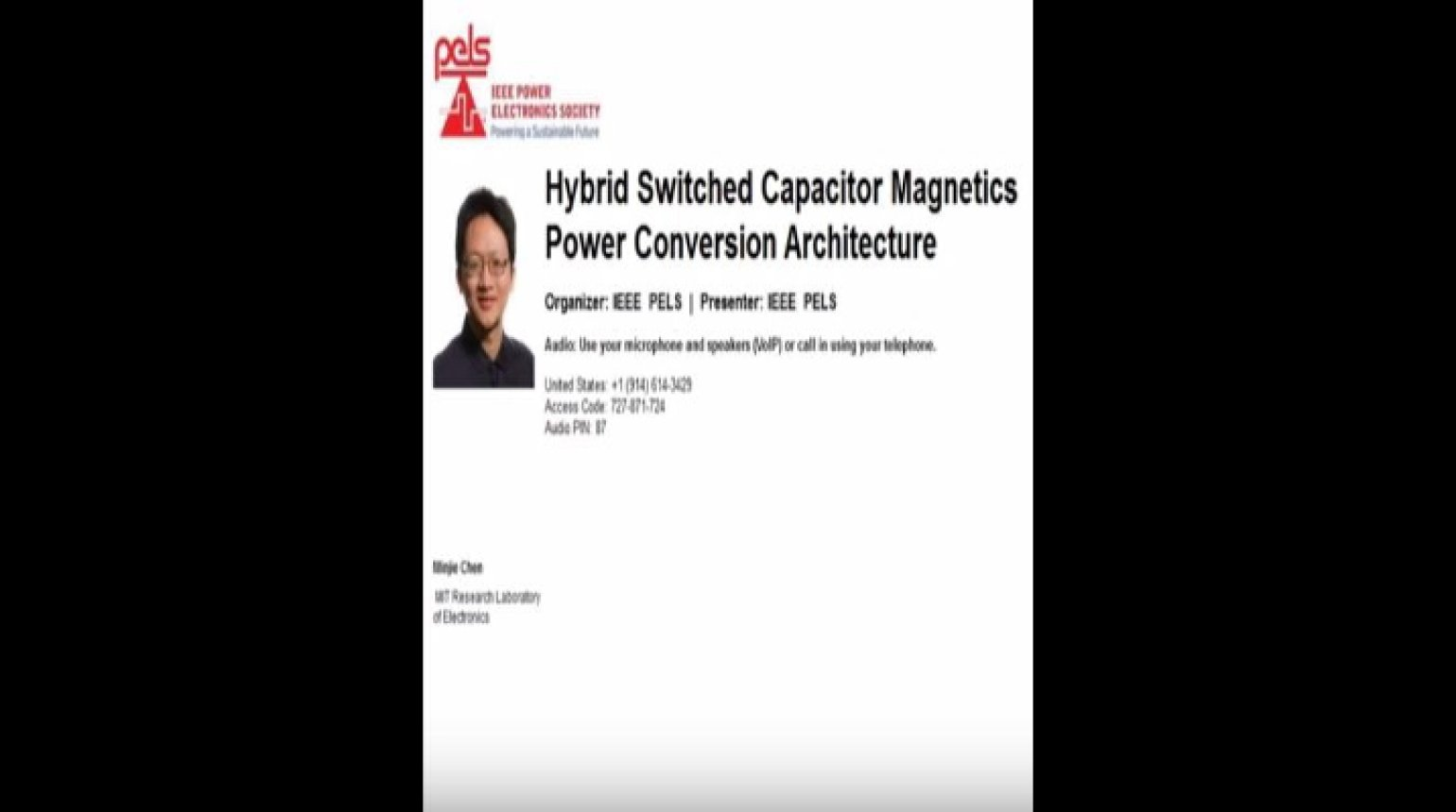 Hybrid Switched Capacitor Magnetics Power Conversion Architecture Video