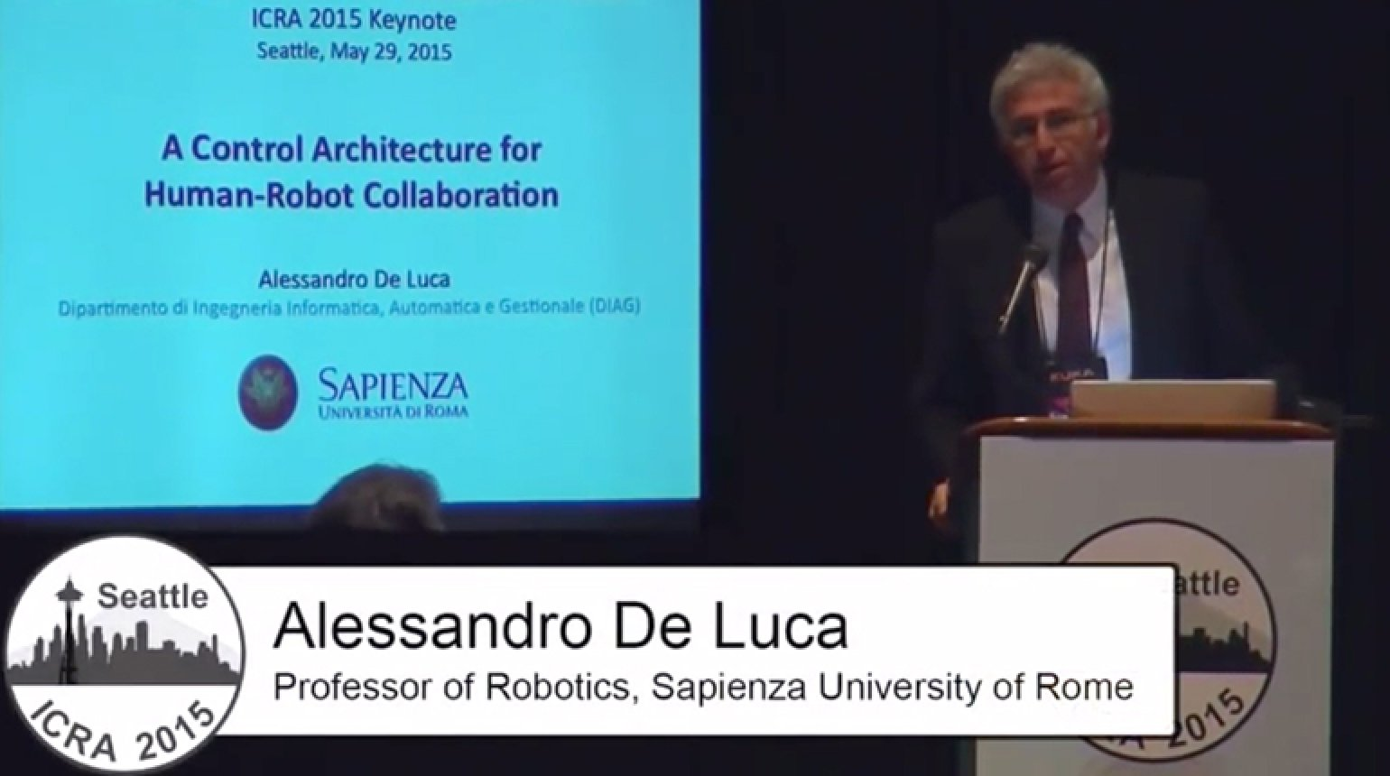 A Control Architecture for Human-Robot Collaboration Video