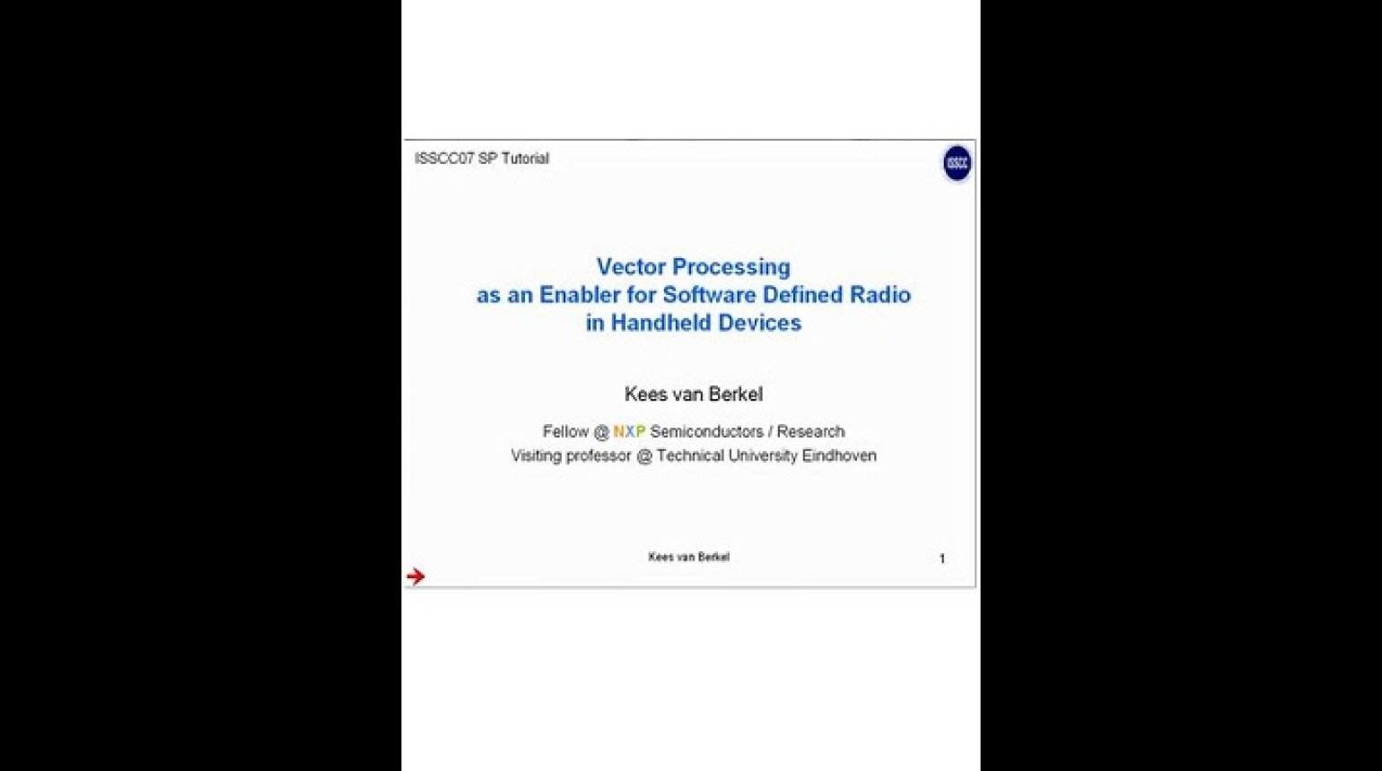 Vector Processing as an Enabler for Sotware Defined Radio in Handheld Devices Video