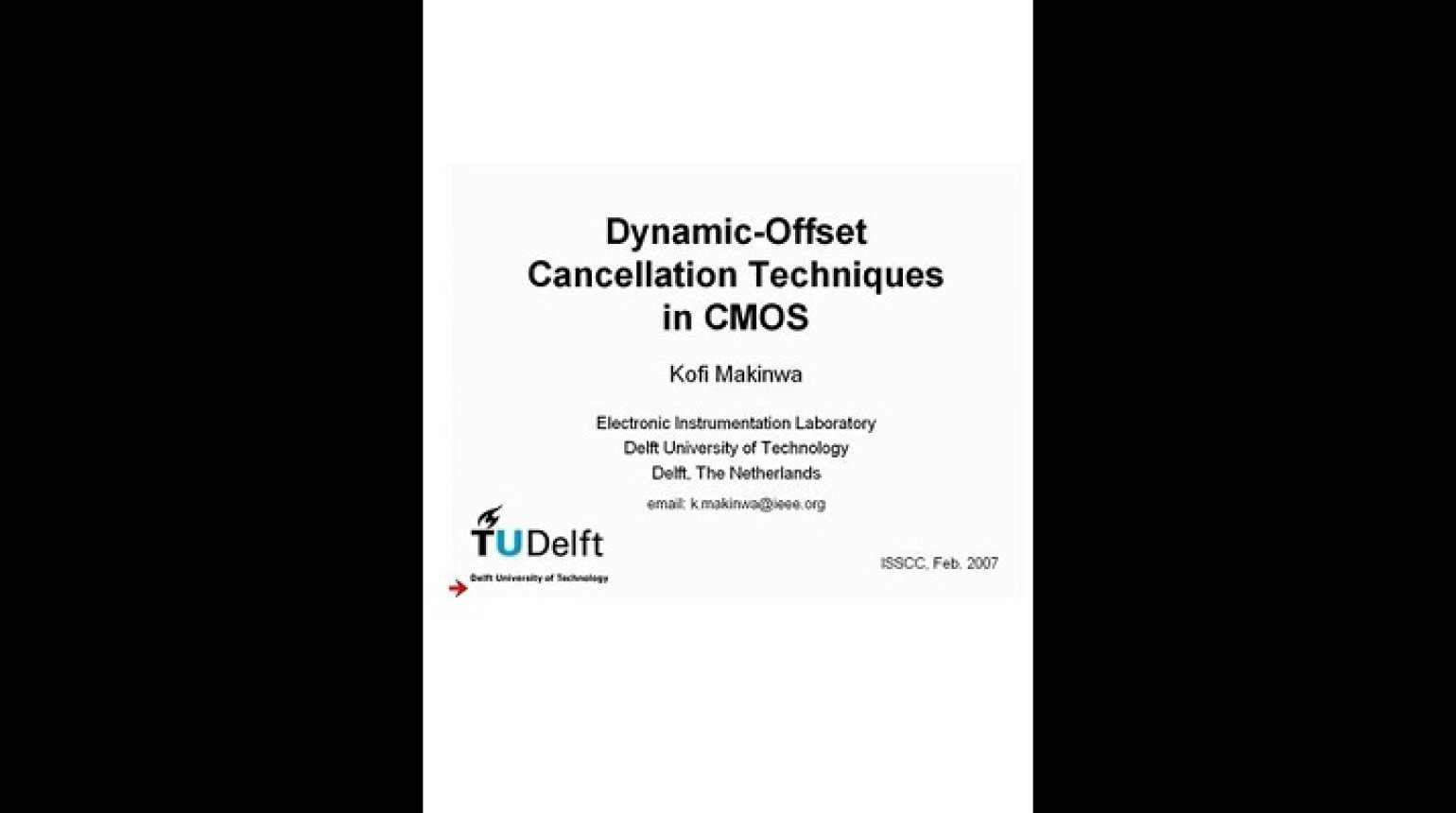 Dynamic-Offset Cancellation Techniques in CMOS Video