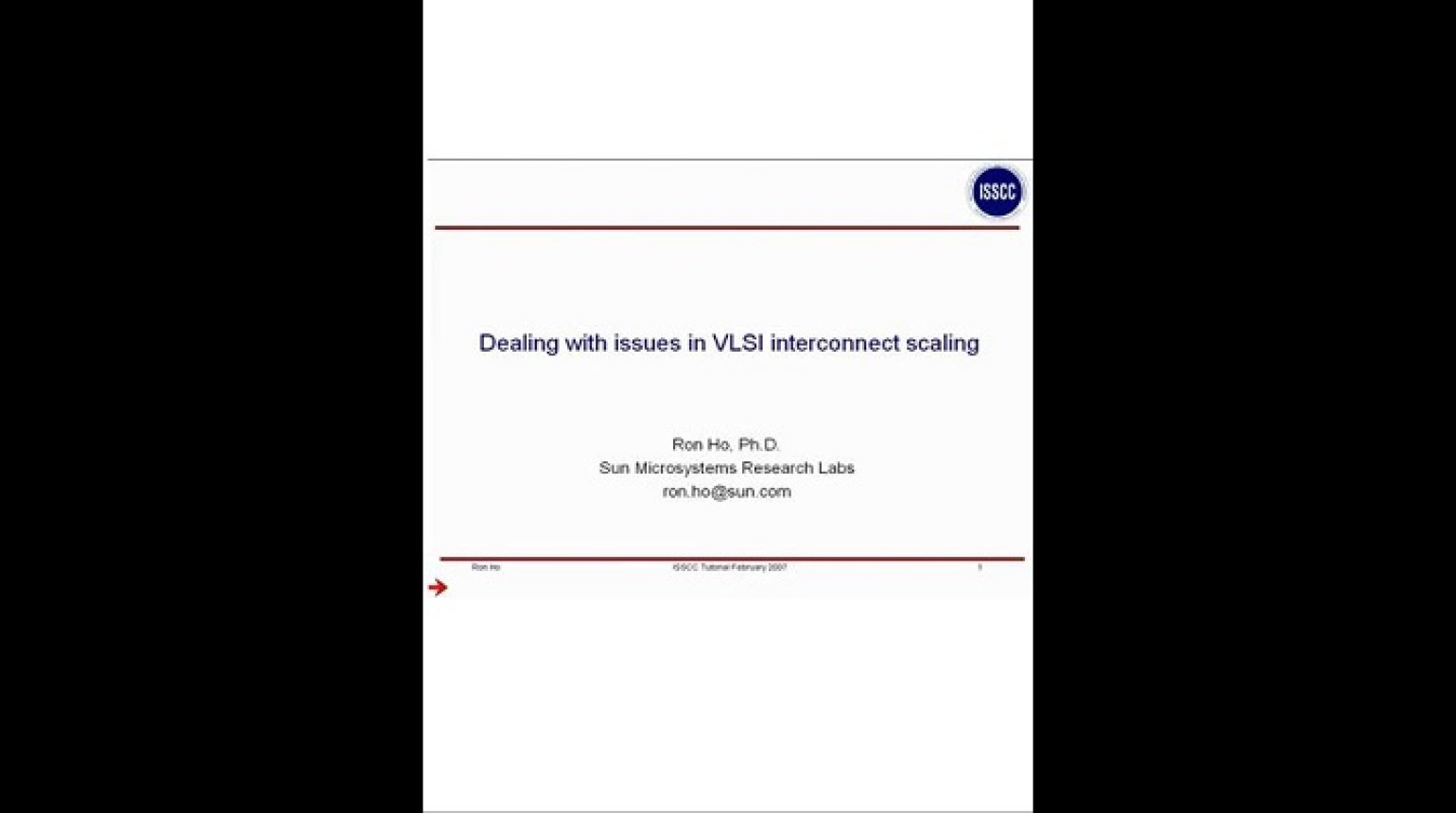 Dealing with issues in VLSI interconnect scaling Video