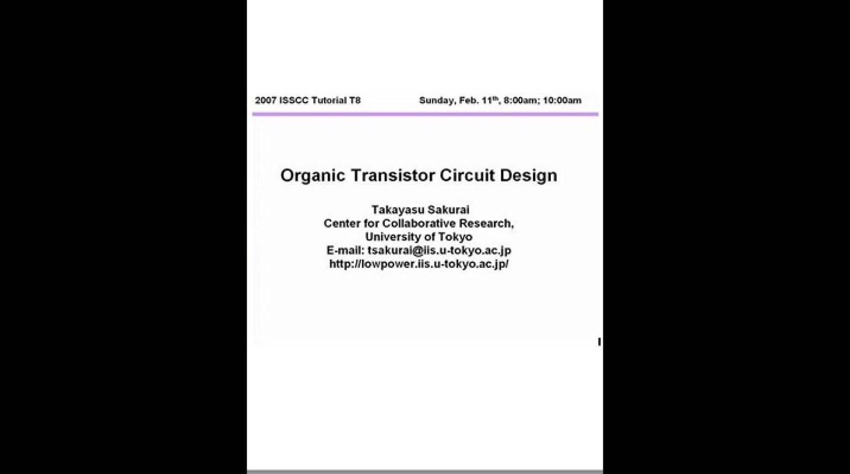 Organic Transistor Circuit Design Video