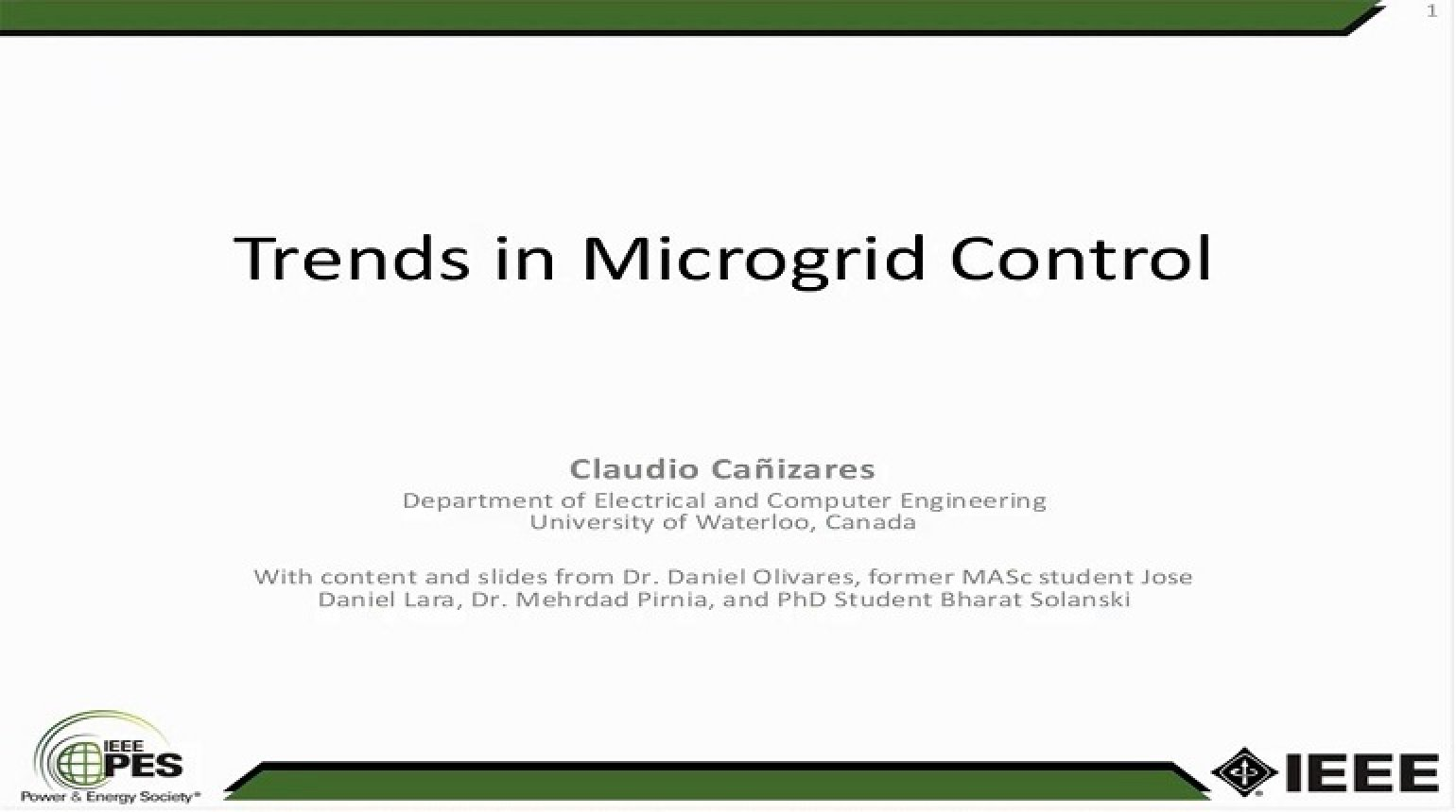 Trends in Microgrid Control