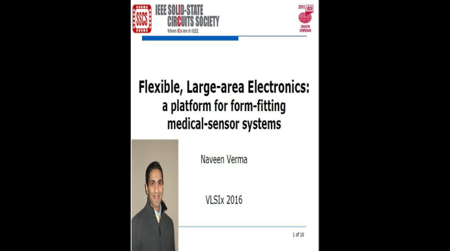 Flexible, Large-area Electronics: a platform for form-fitting medical-sensor systems Video