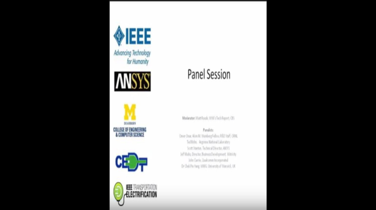 Video - Panel Session