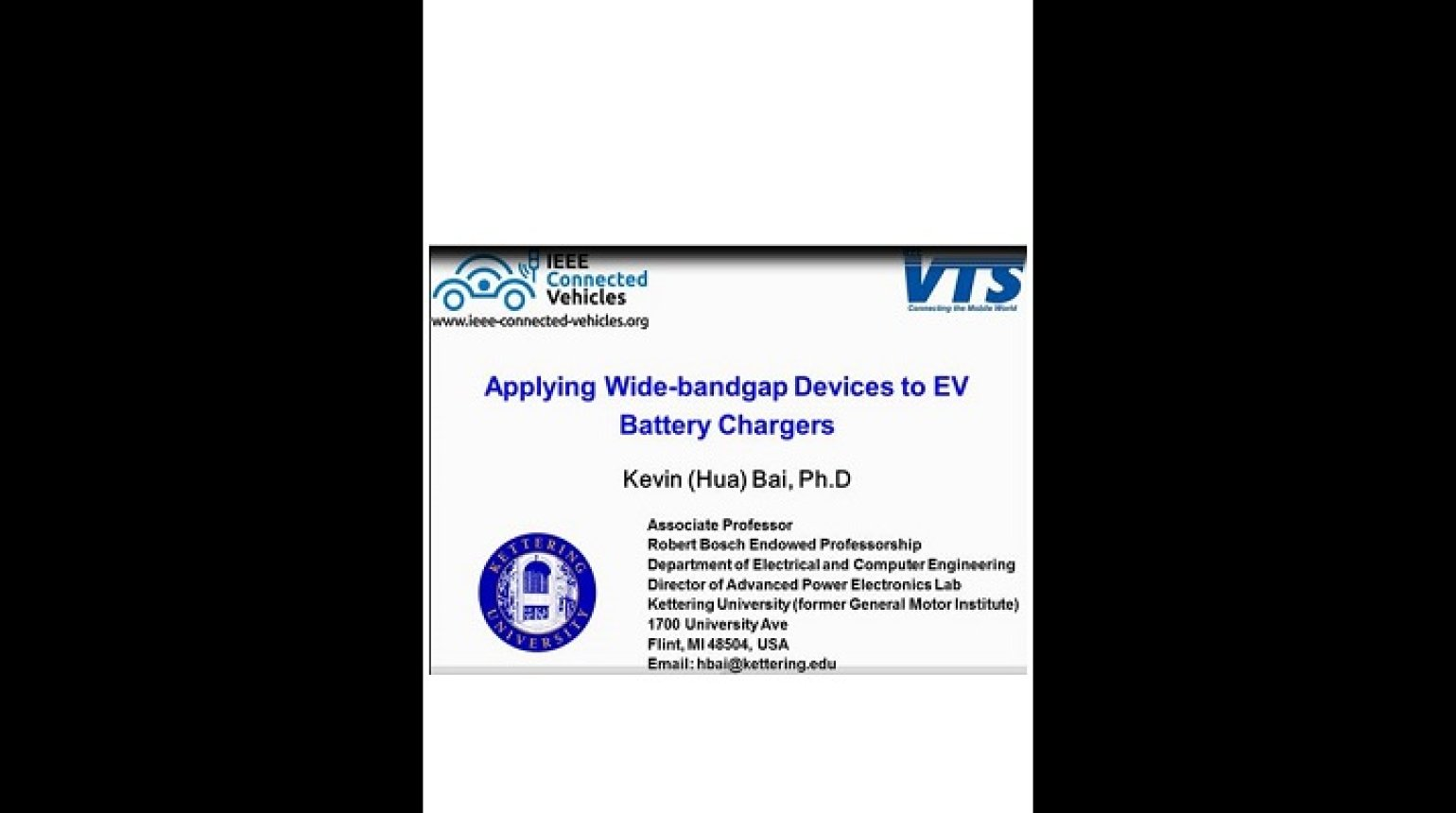 Video - Applying Wide-bandgap Devices to EV Battery Charges
