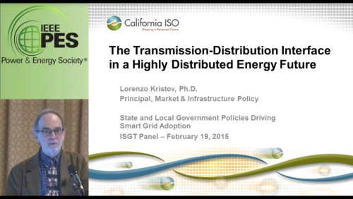 The Transmission-Distribution Interface in a Highly Distributed Energy Future (Video)