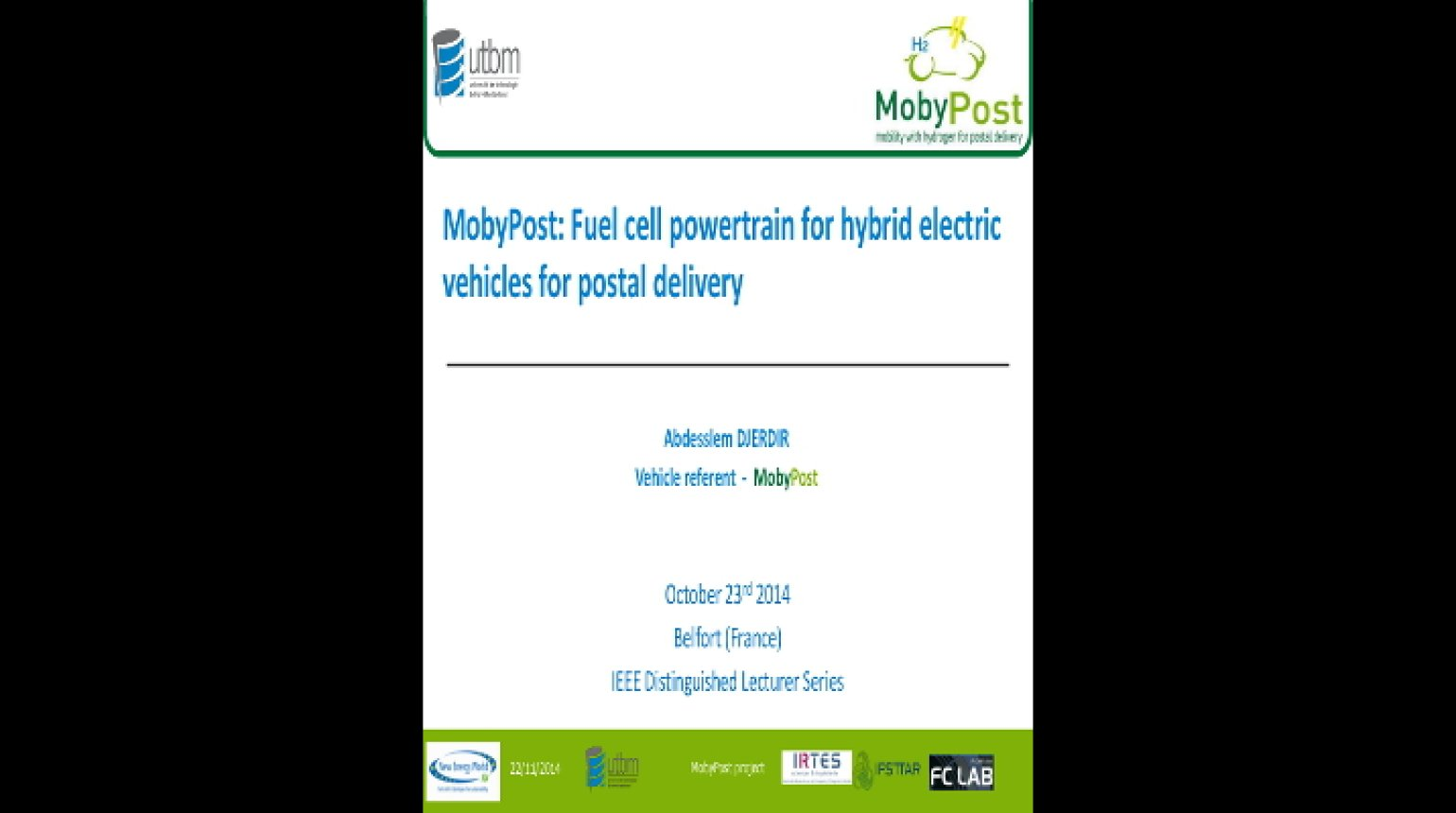 Video - Fuel Cell Powertrain for Hybrid Electric Vehicles for Postal Delivery