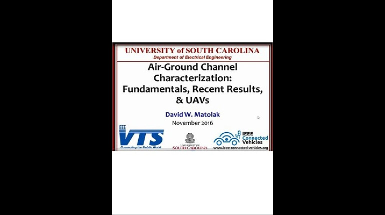 Video - Air-Ground Channel Characterization