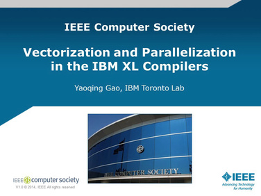 Vectorization/Parallelization in the IBM Compiler