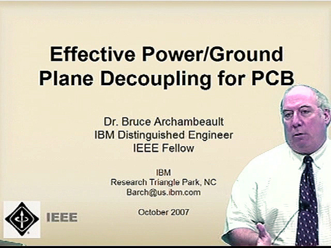 EMC - Bruce Archambeault - Effective Power/Ground Plane Decoupling for PCB