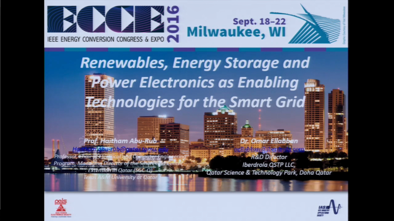 Renewables, Energy Storage and Power Electronics as Enabling Technologies for the Smart Grid Part I
