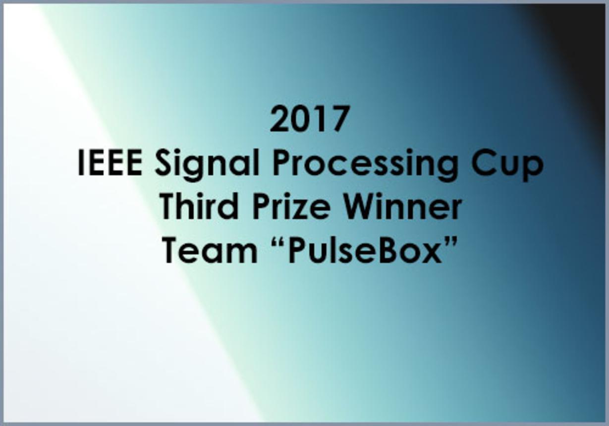 IEEE SP Cup 2017: Third Prize - Team PulseBox