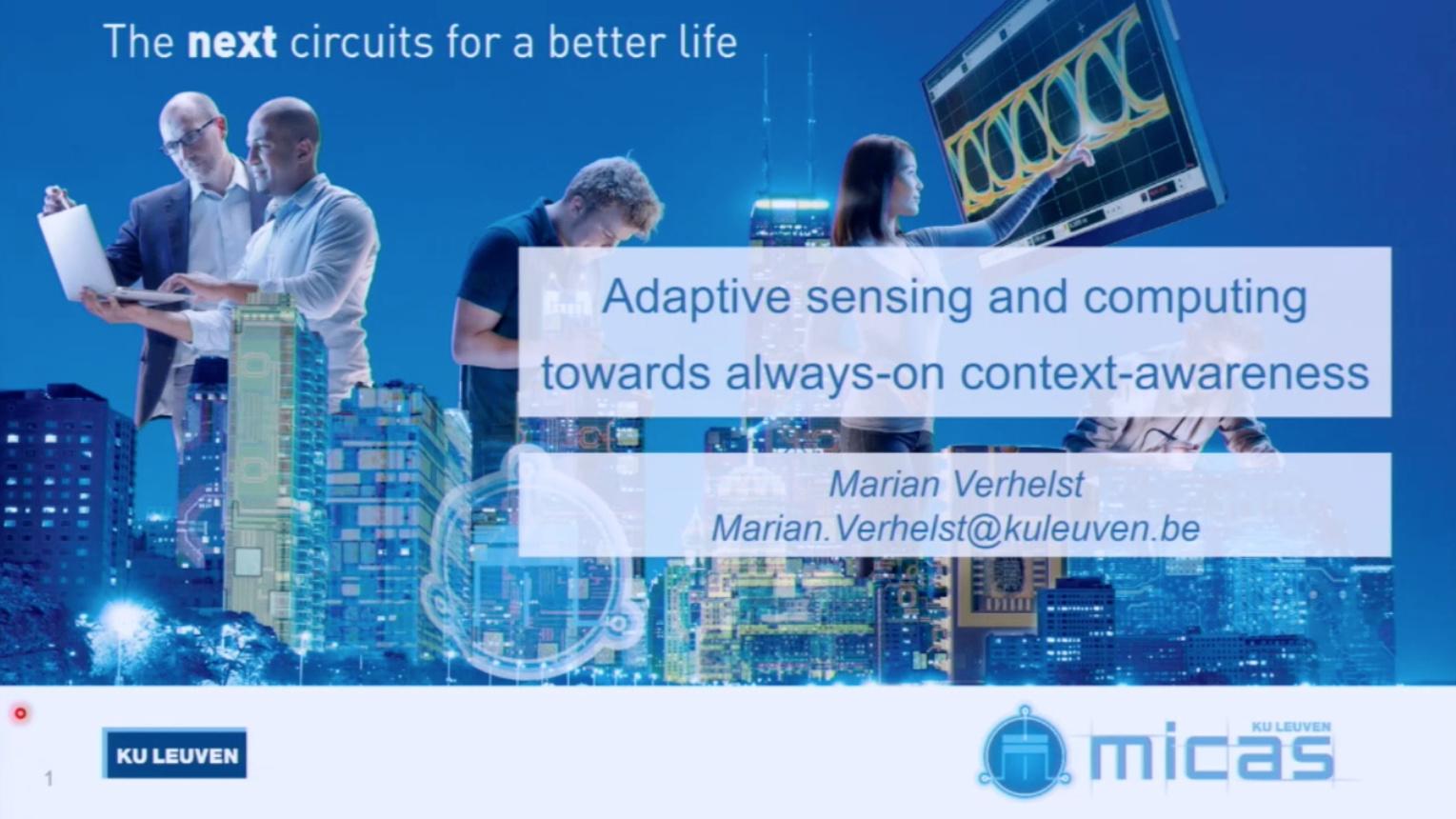 Adaptive sensing and computing towards always-on context-awareness