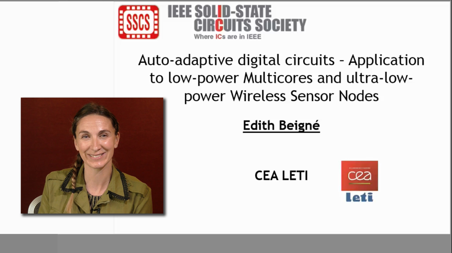 Auto-adaptive digital circuits: Application to low-power Multicores and ultra-low-power Wireless Sensor Nodes Video