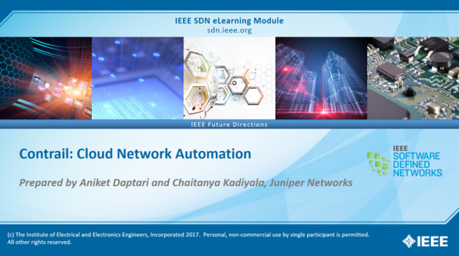 IEEE SDN: OpenContrail Module 1 - Contrail: Cloud Network Automation