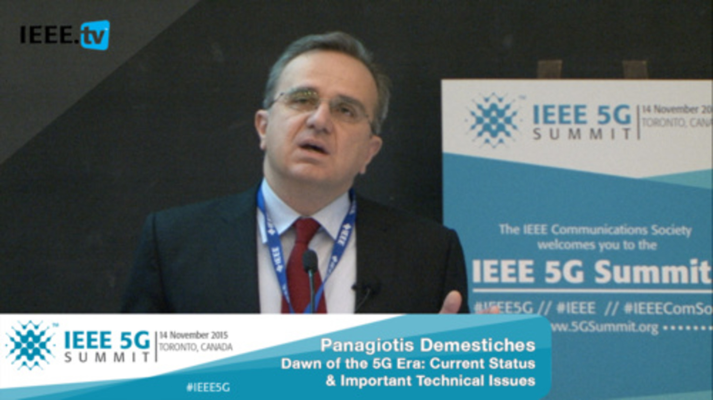 Toronto 5G Summit - 2015 - Panagiotis Demestichas - The Dawning of the 5G Era