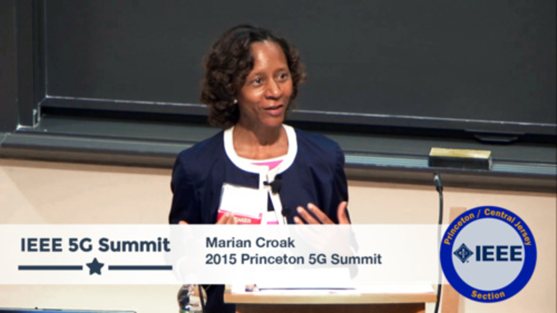 Princeton 5G Summit 2015 - Marian Croak Keynote -  Developing Powerhouse Markets