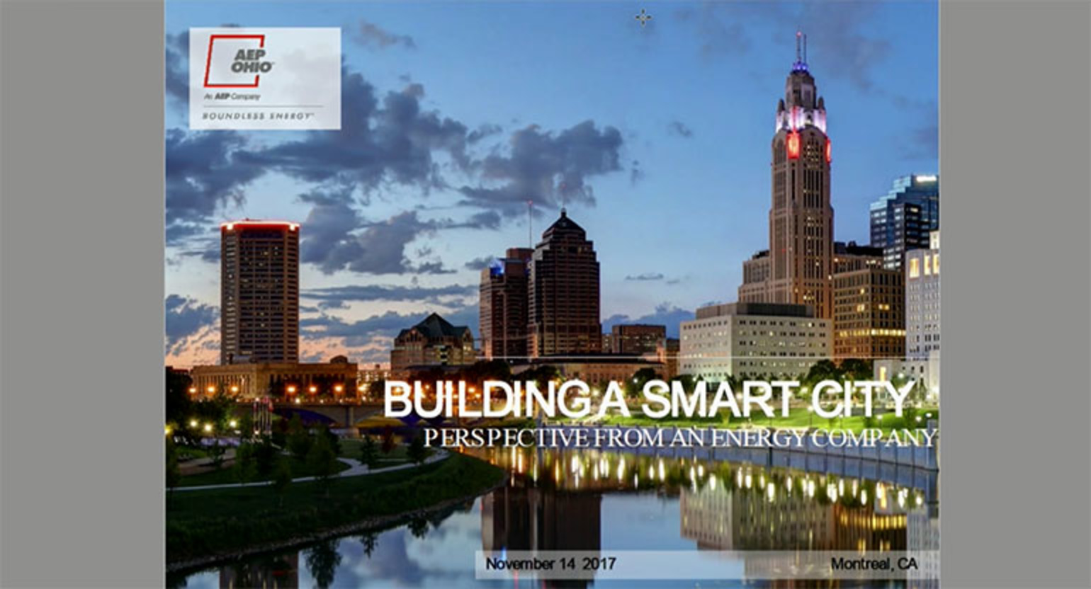 IEEE GlobalSIP 2017 Plenary: Building a Smart City-Perspective from an Energy Company