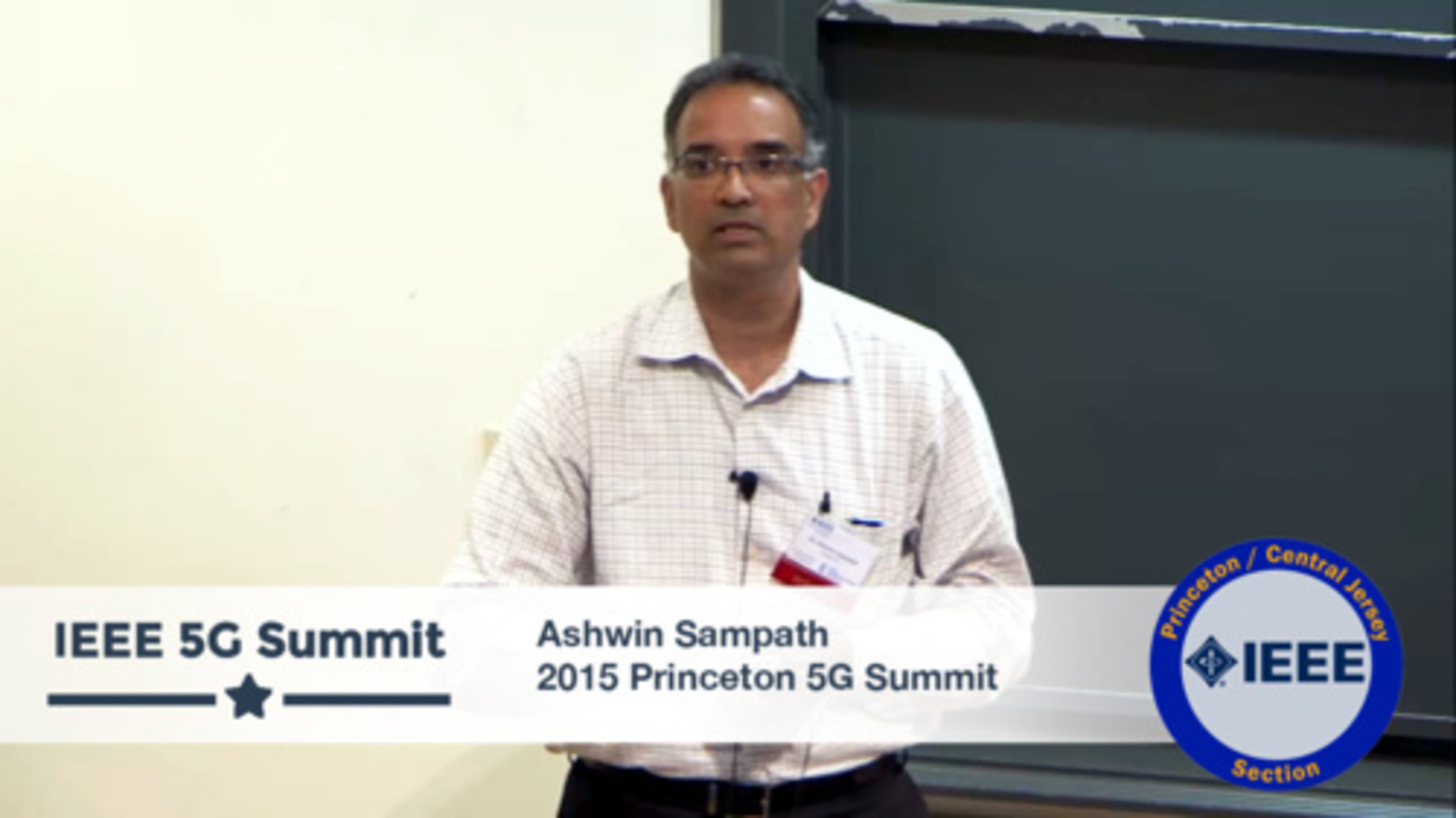 Princeton 5G Summit - Ashwin Sampath Keynote - Millimeter Waves - Washing Away the Competition