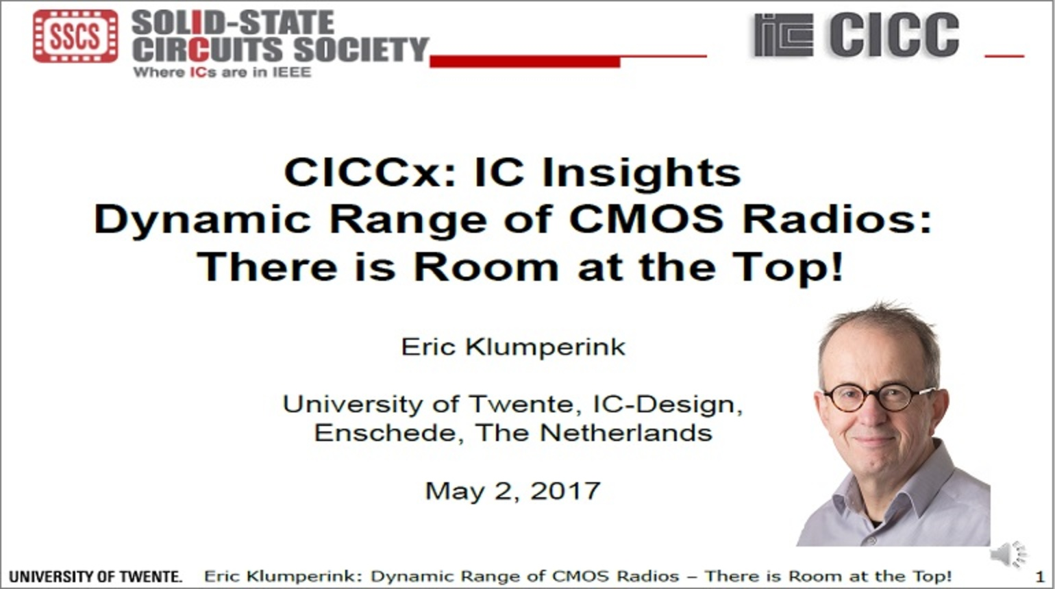 Dynamic Range of CMOS Radios:There is Room at the Top! Video