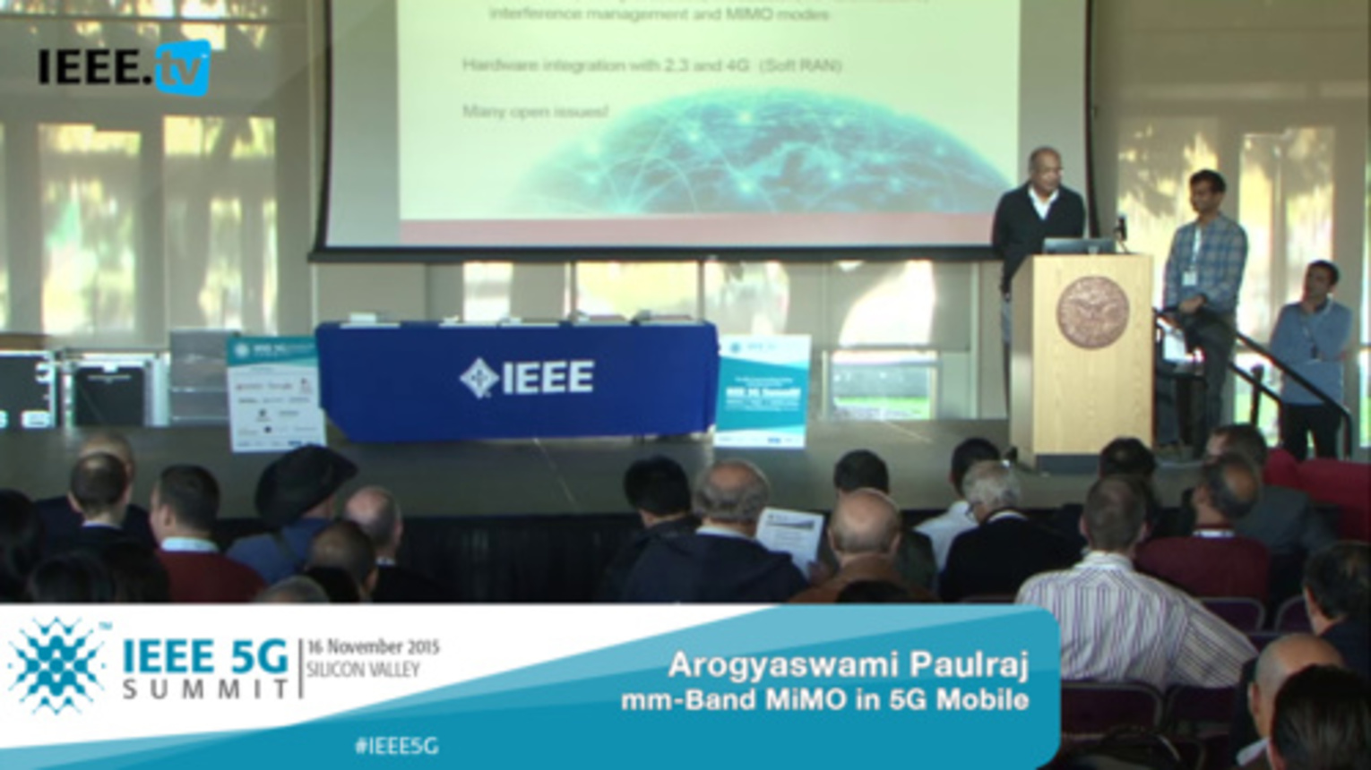 Silicon Valley 5G Summit 2015 - Arogyaswami Paulraj - mm-Band MIMO in 5G Mobile