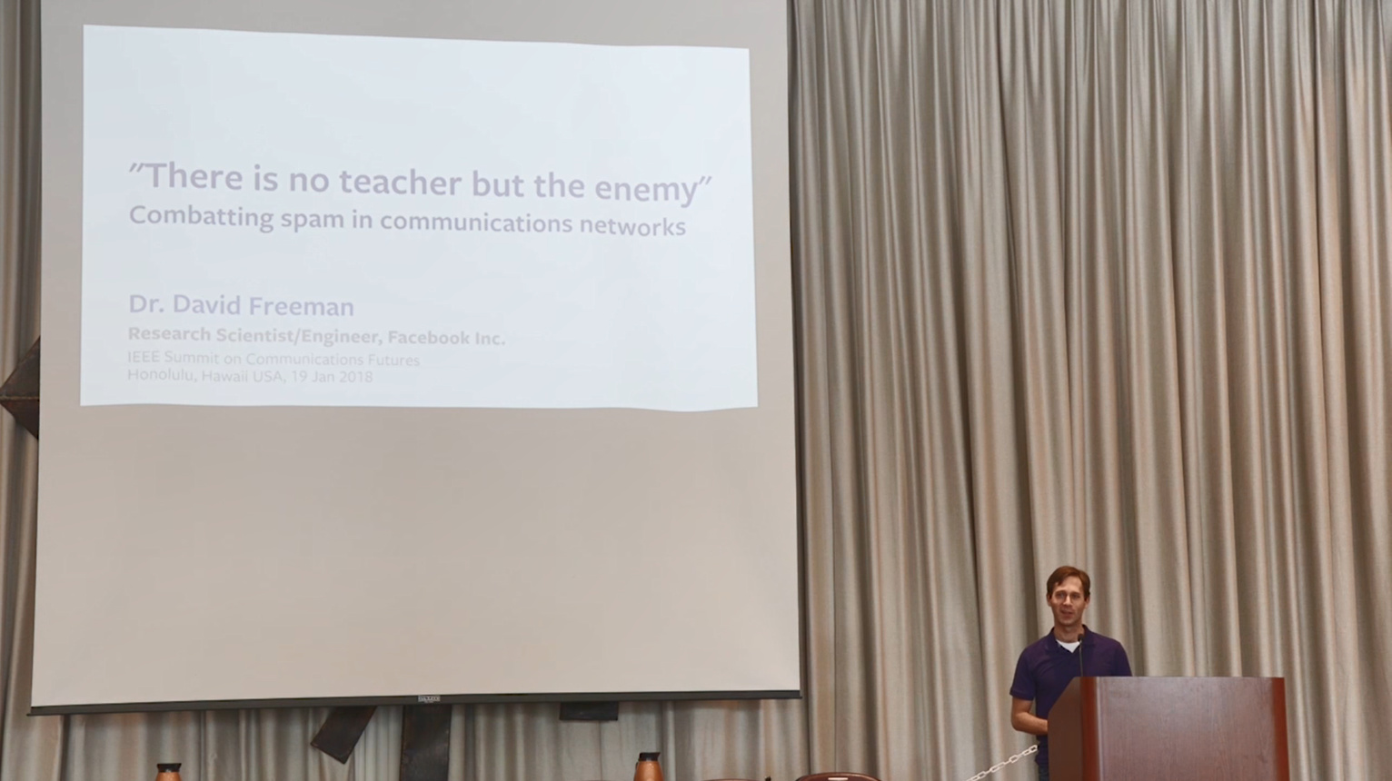 """There is no teacher but the enemy"" Combating spam in communications networks"