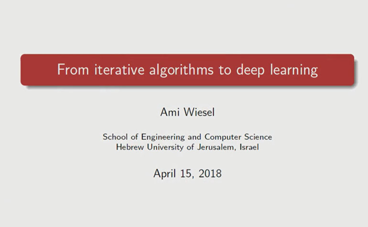 Tutorial 3- From Iterative Algorithms to Deep Learning