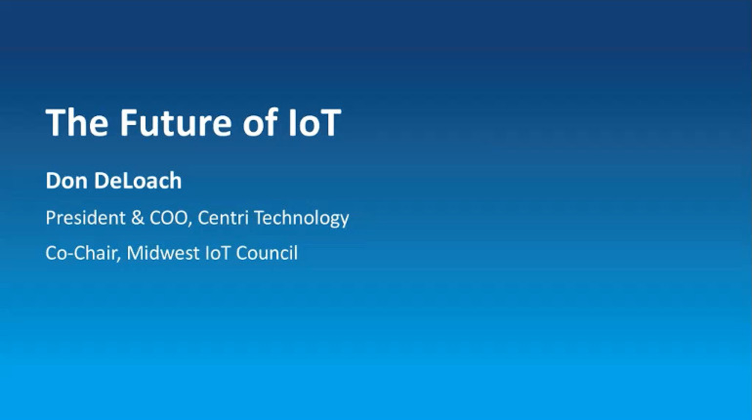 IEEE Future Networks: The Future of IoT