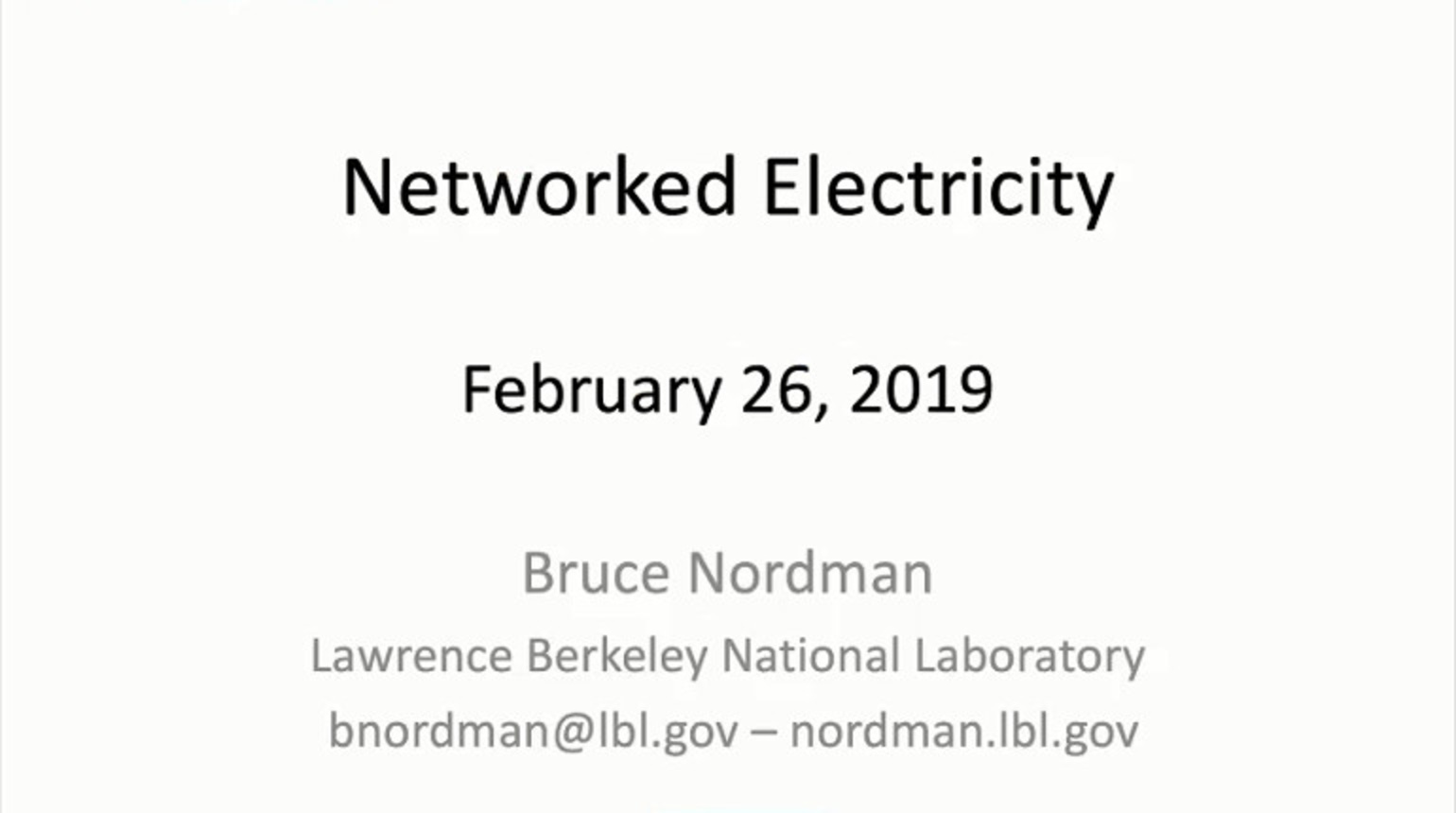 IEEE Future Networks: Networked Electricity