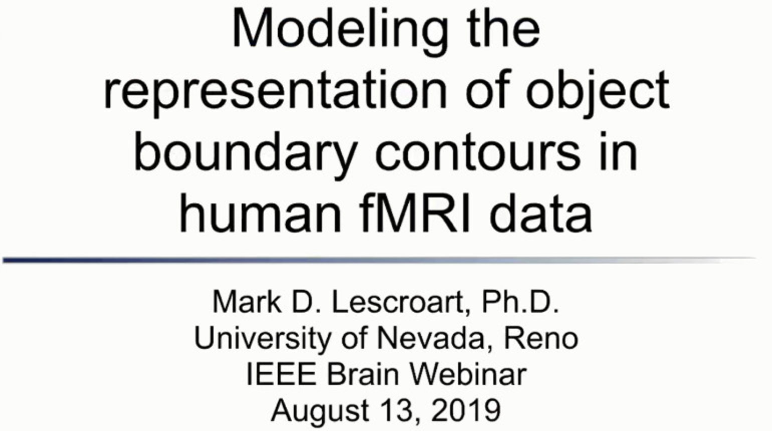 IEEE Brain: Modeling the Representation of Object Boundary Contours in Human fMRI Data