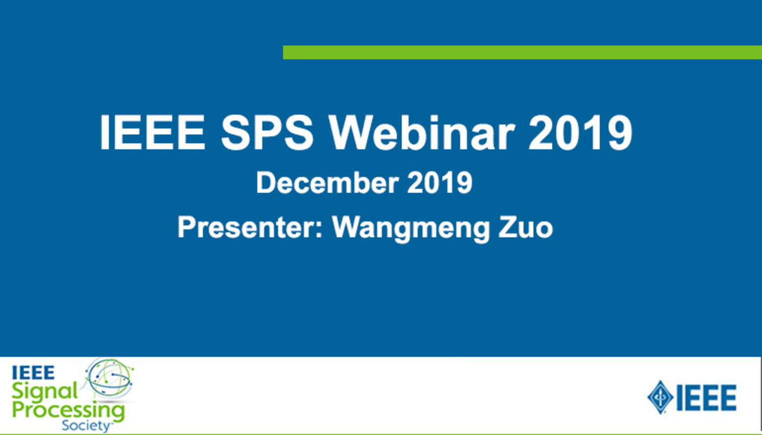 SPS Webinar: Toward Efficient and Flexible CNN-based Denoising in Photography. By Wangmeng Zuo