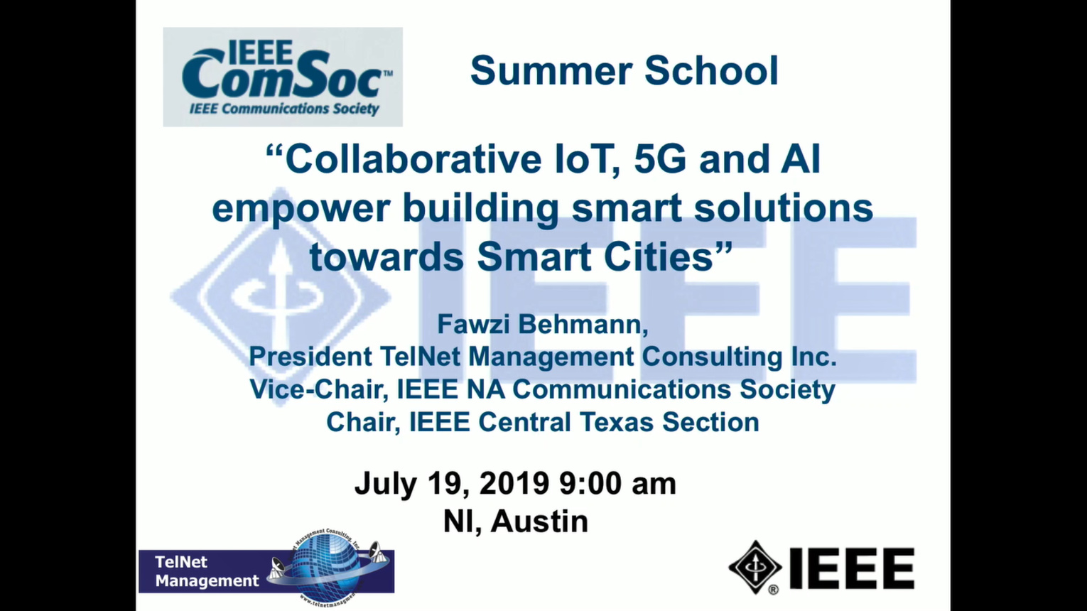 Collaborative IoT, 5G and AI empower building smart solutions towards Smart Cities