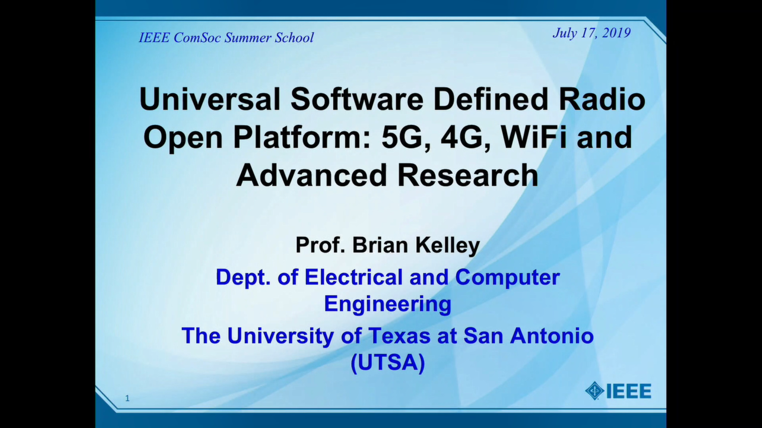 Universal Software Defined Radio Open Platform: 5G, 4G, WiFi and Advanced Research