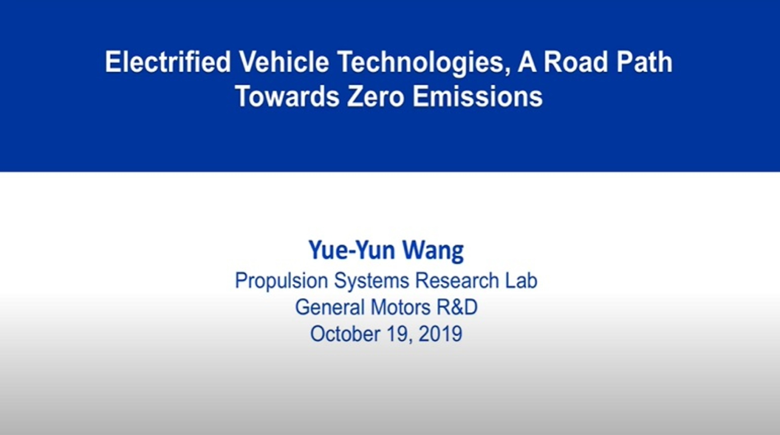 Electrified Vehicle Technologies, A Road Path Towards Zero Emissions