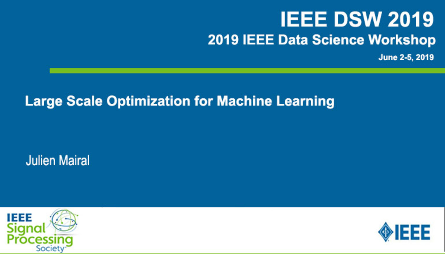 Large Scale Optimization for Machine Learning