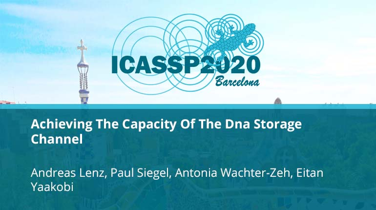 Achieving The Capacity Of The Dna Storage Channel