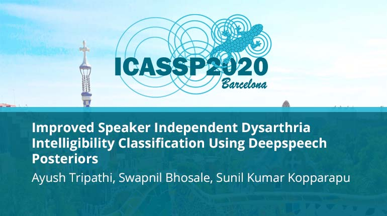 Improved Speaker Independent Dysarthria Intelligibility Classification Using Deepspeech Posteriors